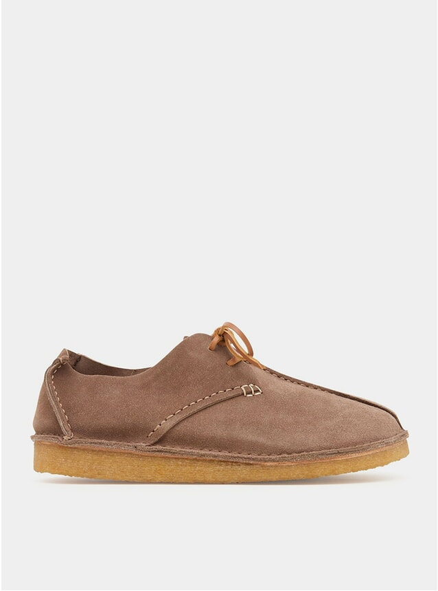 Taupe Centre Seam Suede Caden Shoes