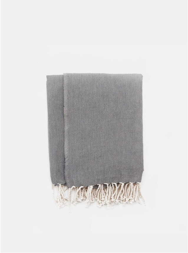 Black Melange Turkish Towel
