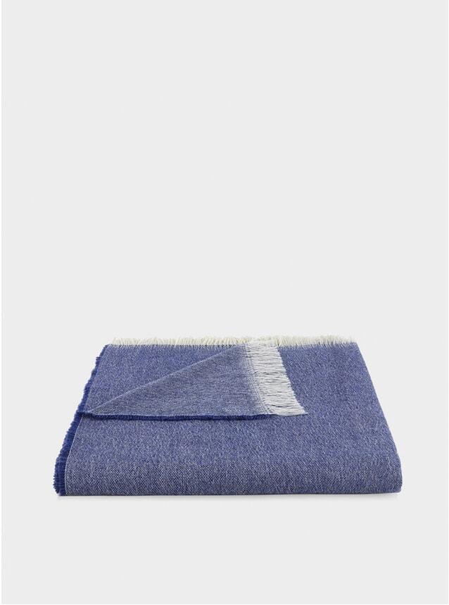 Royal Blue Wool Throw