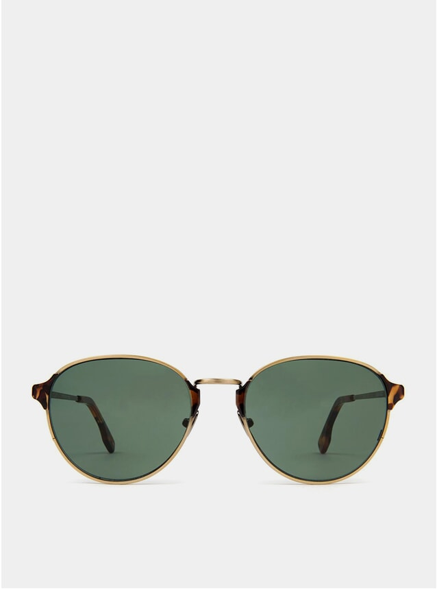 Gold / Green Arango Sunglasses