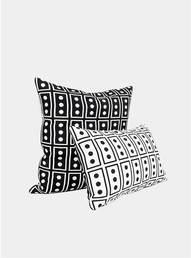 Black / White Japan Cushions by Du Pasquier & Sowden