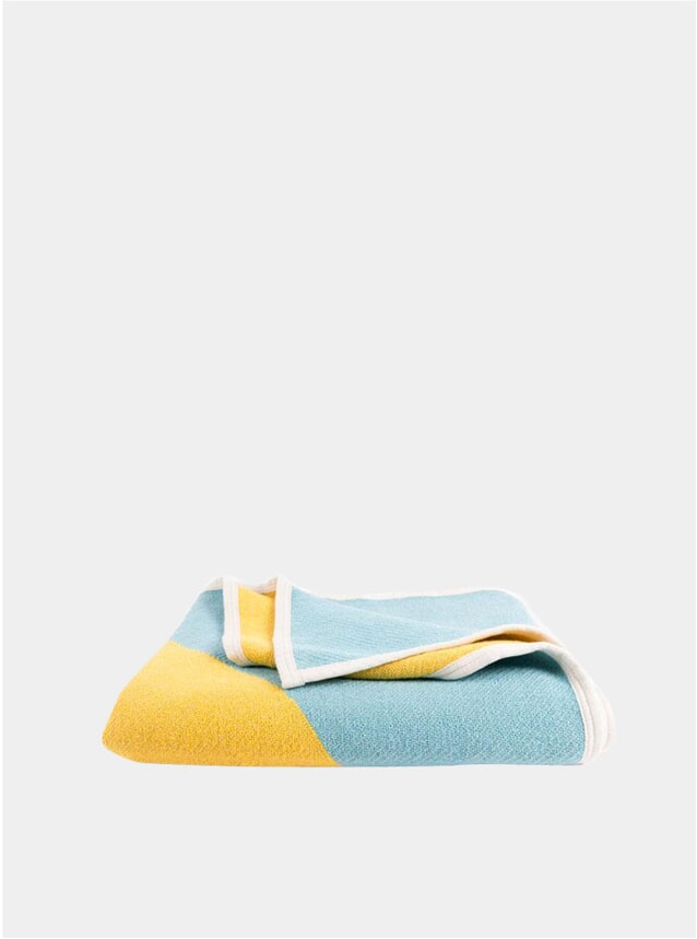 Yellow / Turquoise X Marks The Spot by Michele Rondelli