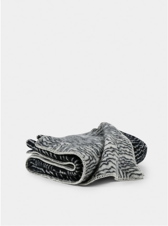 Black / White Wool Earth Blanket by CoopDPS