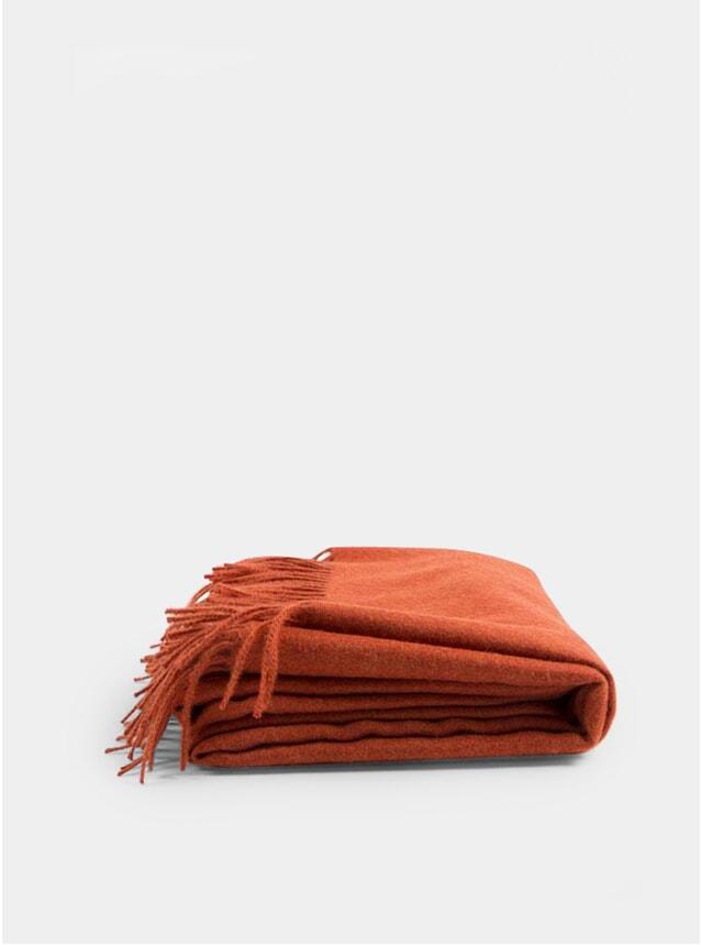 Saffron Orange Baby Alpaca Throw