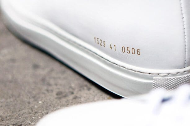 Common Projects Sneakers Branding