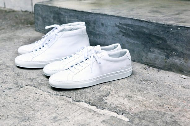 Common Projects Achilles Low and Mid White