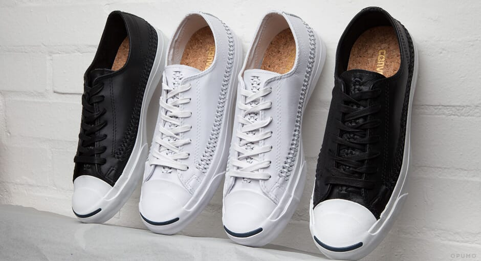 Converse Jack Purcell Woven Leather Sneakers