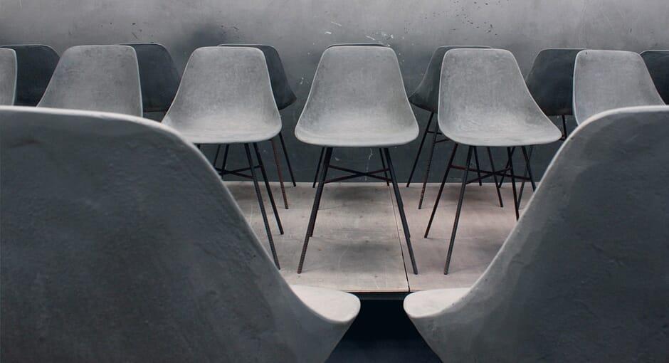 Concrete Shell Chair by HLB Studios
