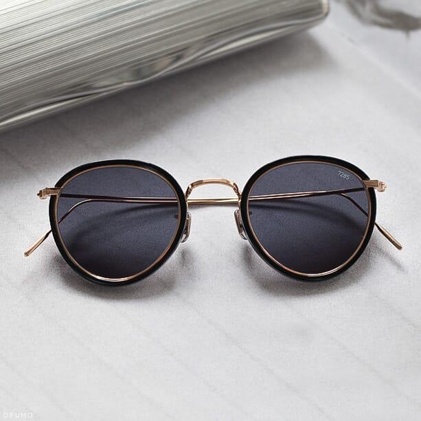 Opumo-EYEVAN-7285-Model-717-Black-Gold-Sunglasses
