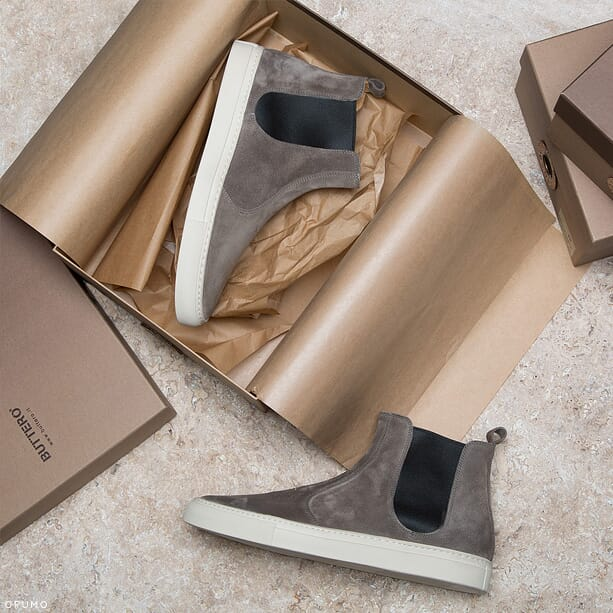 BUTTERO-Grey-Suede-Chelsea-Boots-Content
