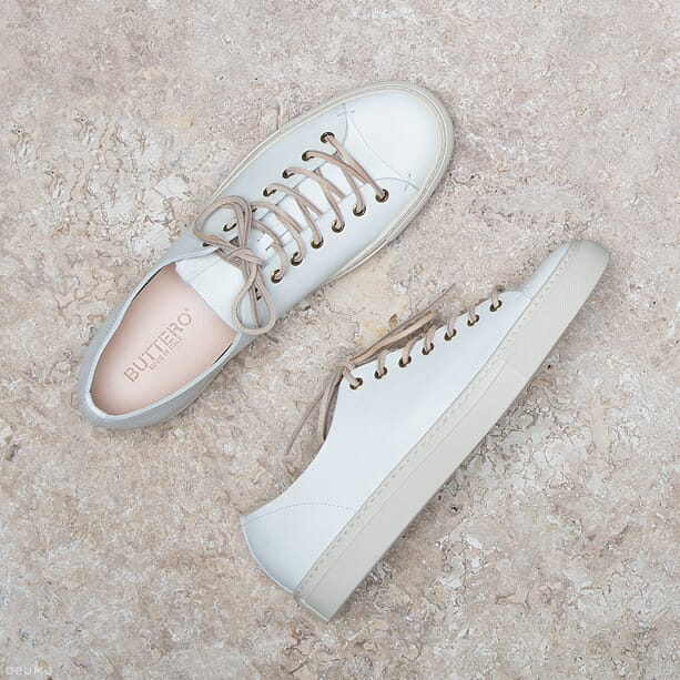 BUTTERO-White-Leather-Tanino-Low-Profile-Sneakers-Content
