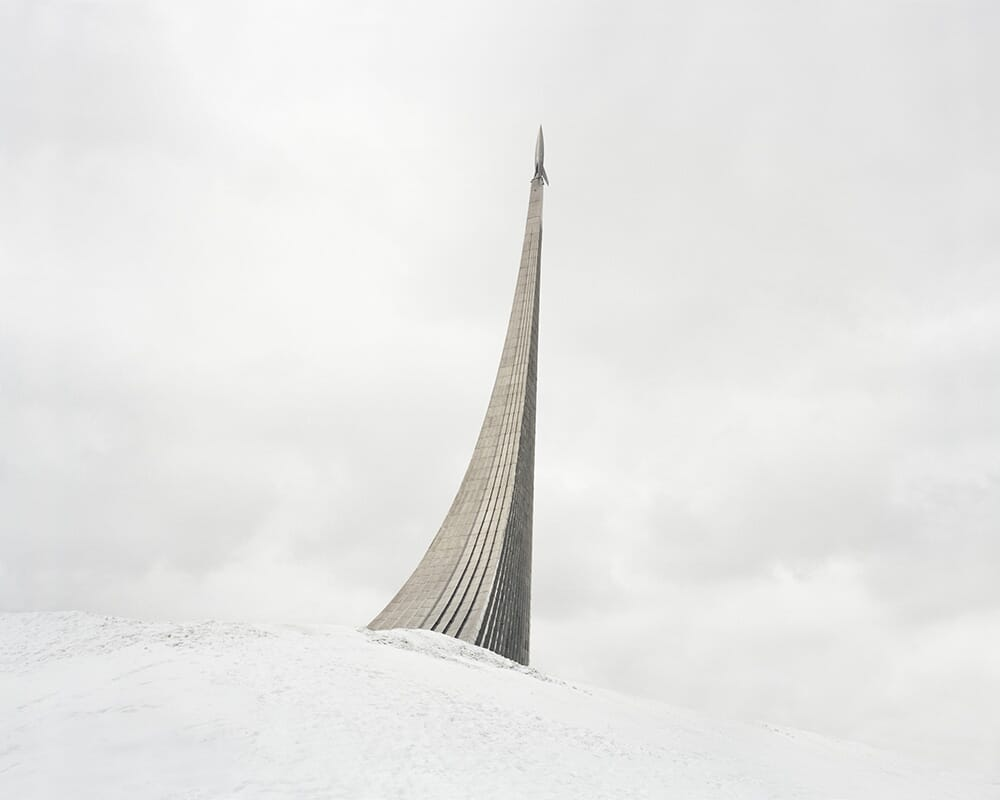 Danila Tkatchenko, 31. Monument to the Conquerors of Space. The rocket on top was made according to the design of German V-2 missile, 2015, from the Restricted Areas series, Courtesy of the artist