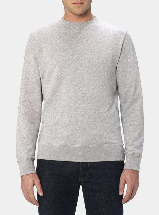 sunspel_grey_melange_loopback_sweater