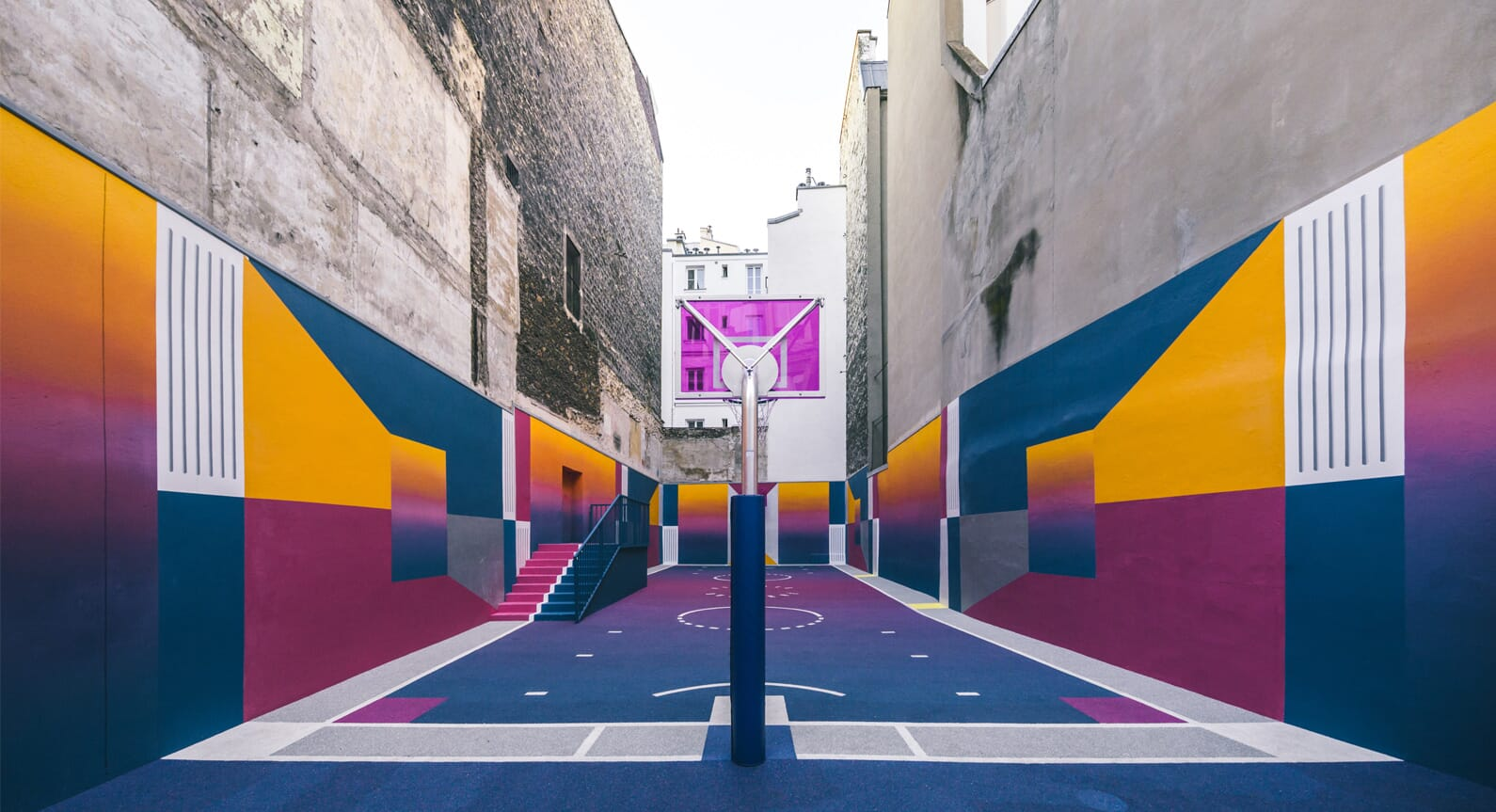 Paris' Pigalle Basketball Court Receives A Spectacular Redesign