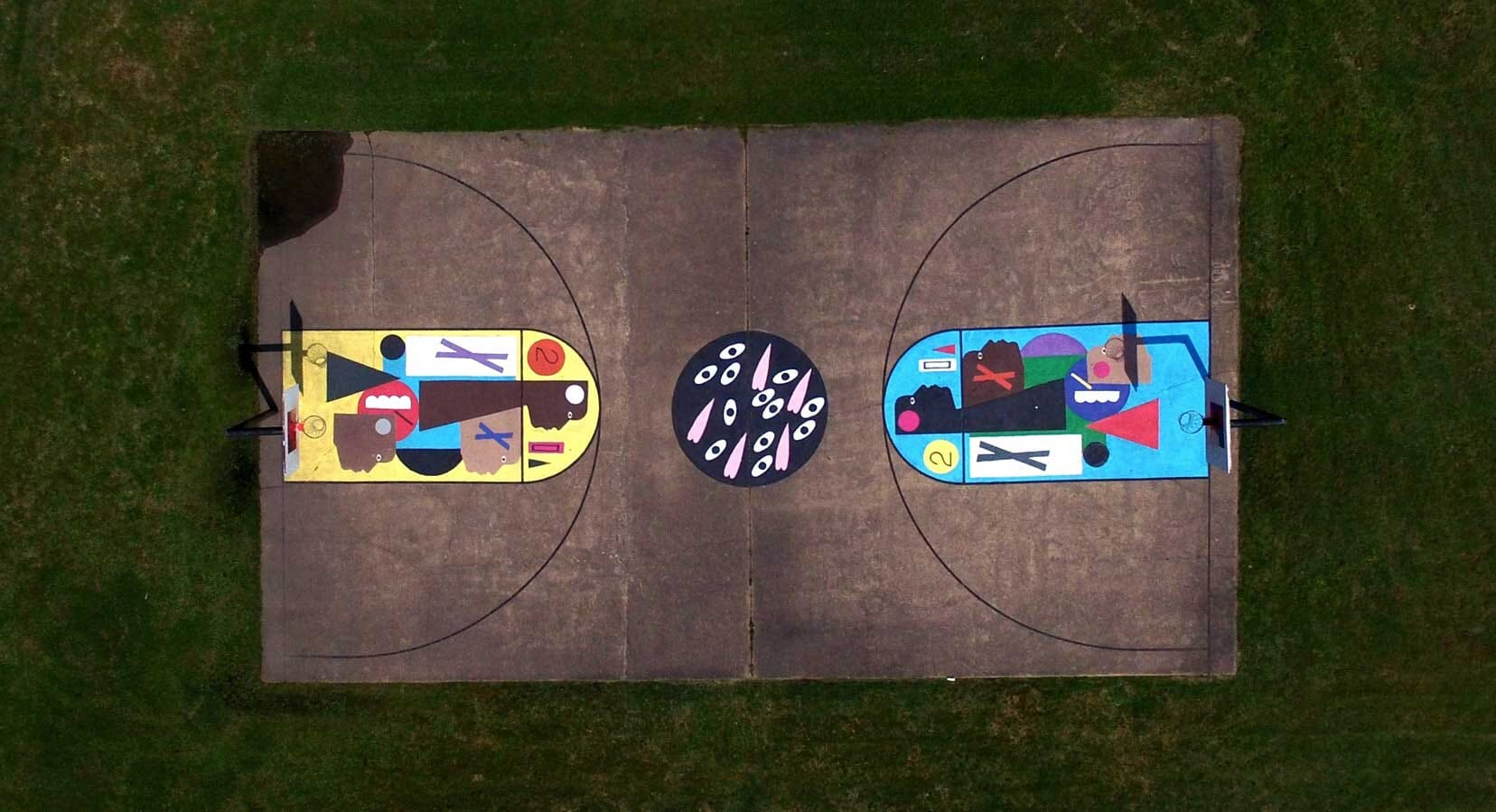 Project Backboard Transform Forgotten Courts Into Large-Scale Art