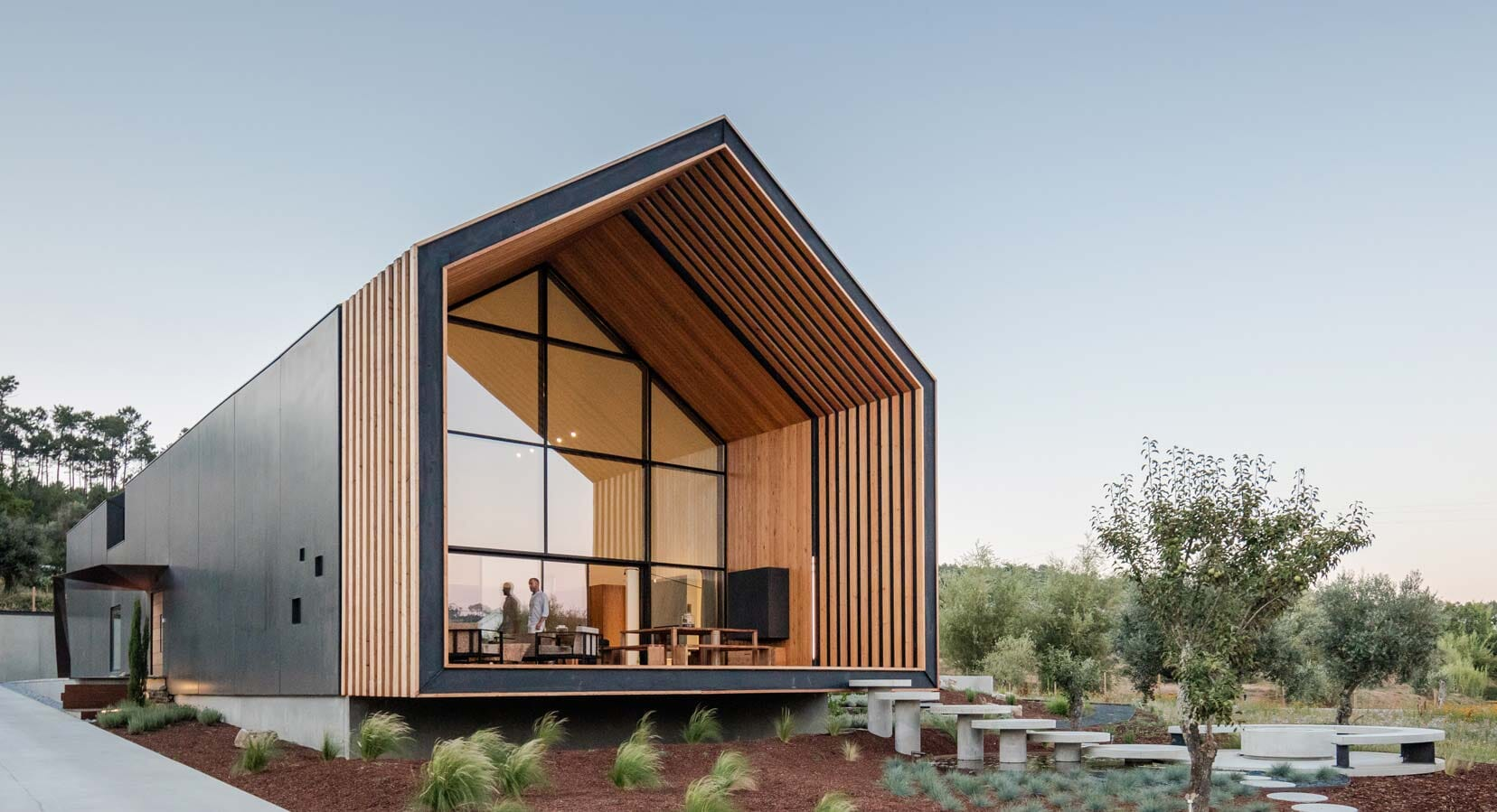 Filipe Saraiva Arquitectos Designs Pentagonal House-Shaped Residence In Rural Portgual