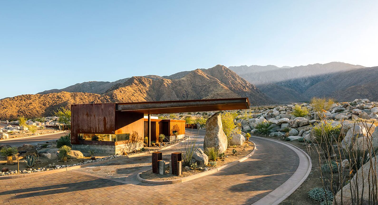 The Desert Palisades Guardhouse in Coachella Valley, California