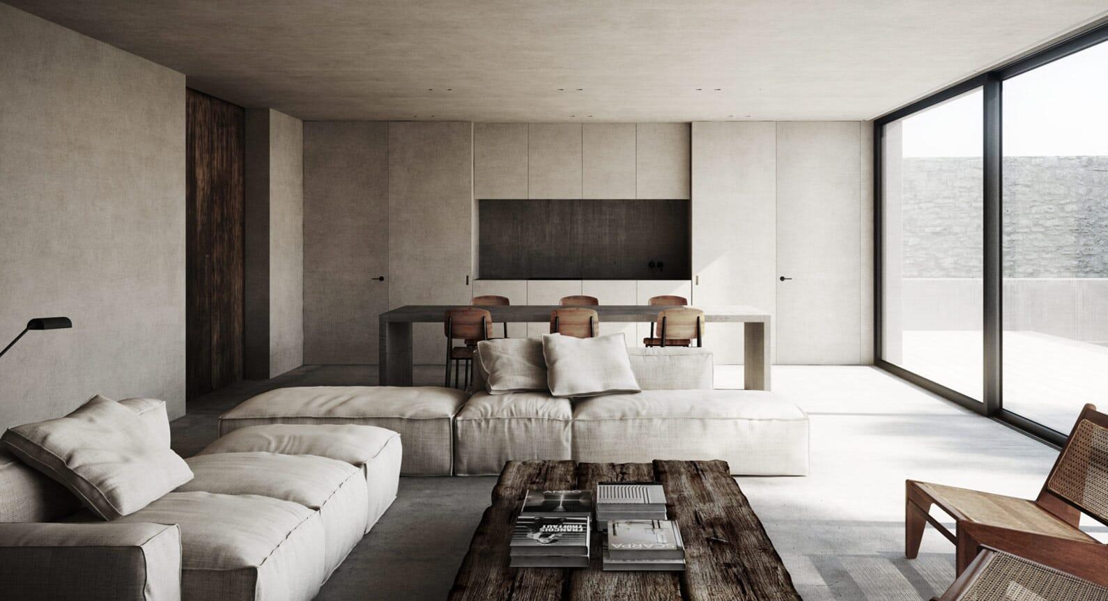 NS Architects Complete A Concrete Paradise In Côte d'Azur