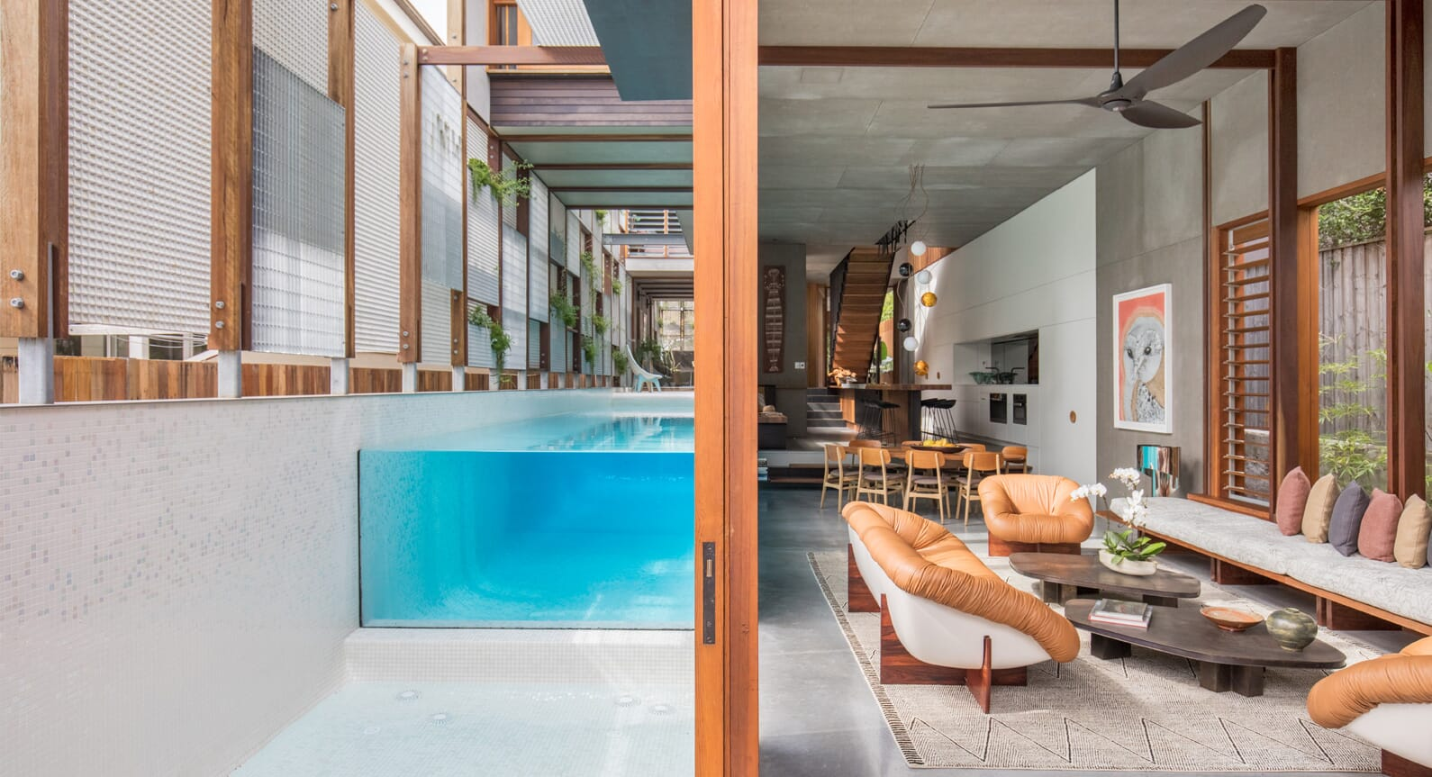 A Mix Of Light & Privacy: The Living Screen House in North Bondi