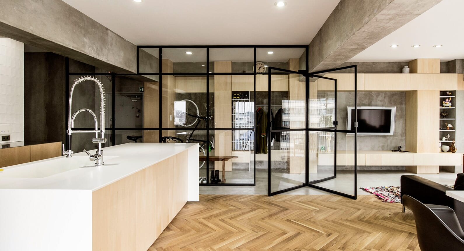 How A Simple Revolving Door Transformed This Tokyo Apartment