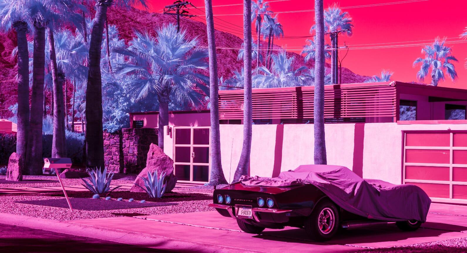 Infra Realism: Kate Ballis Reimagines California's Modernist Landscape With Infared