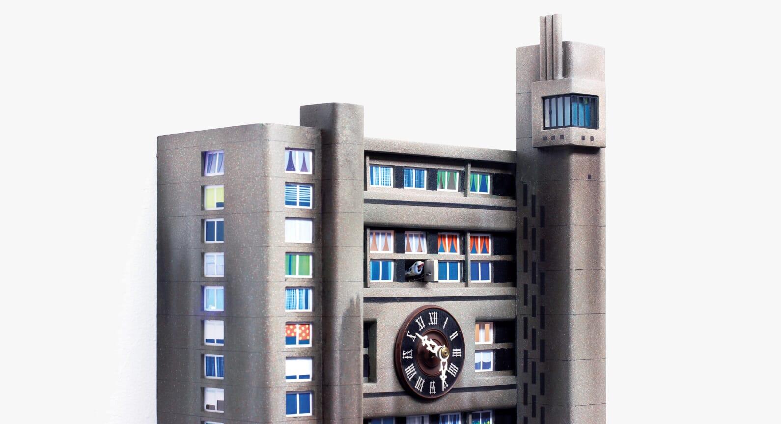 Guido Zimmermann Turns Brutalist Tower Blocks Into Cuckoo Clocks