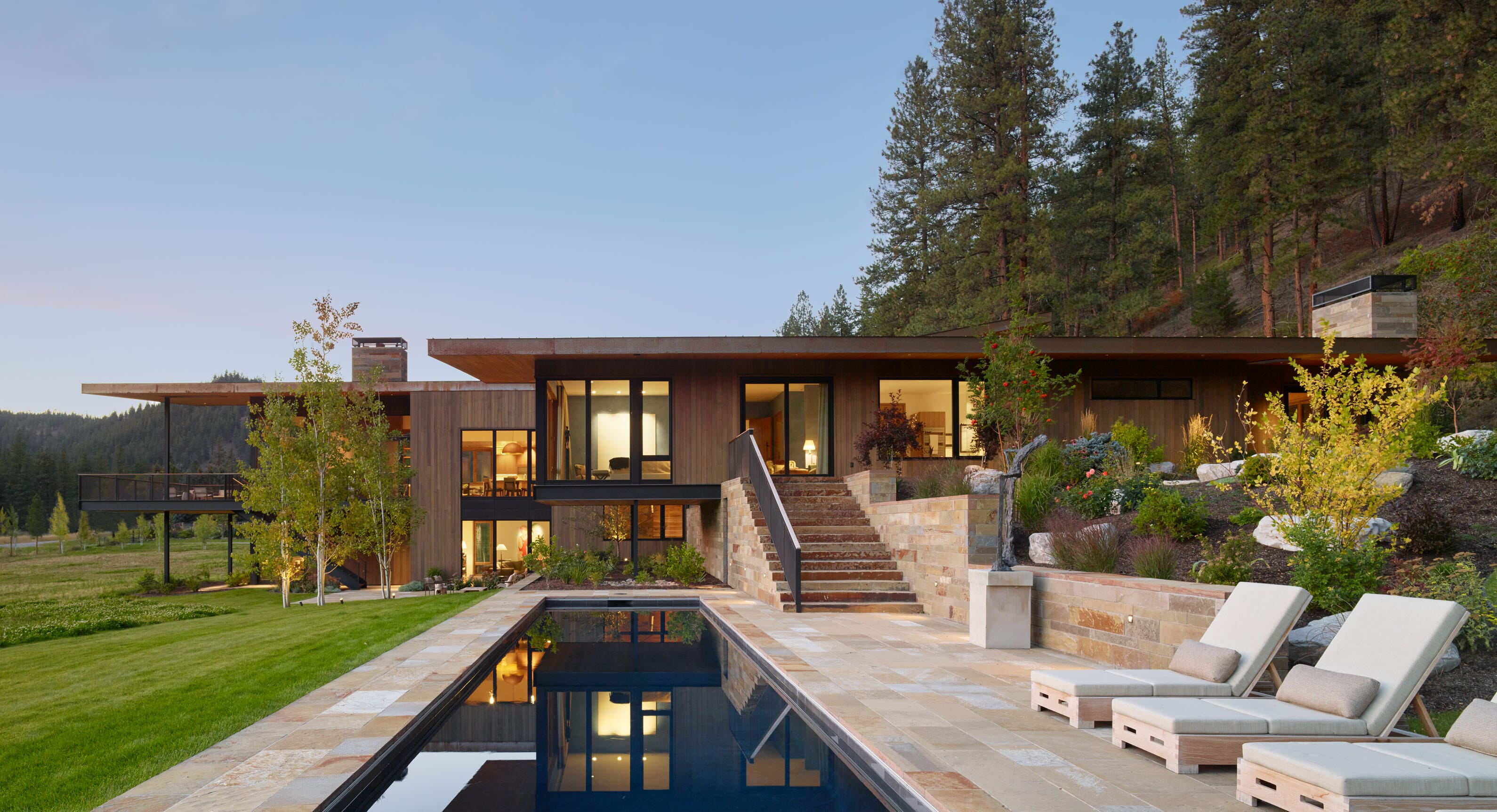 Carney Logan Burke Create A Spectacular Montana Retreat For Art Collectors