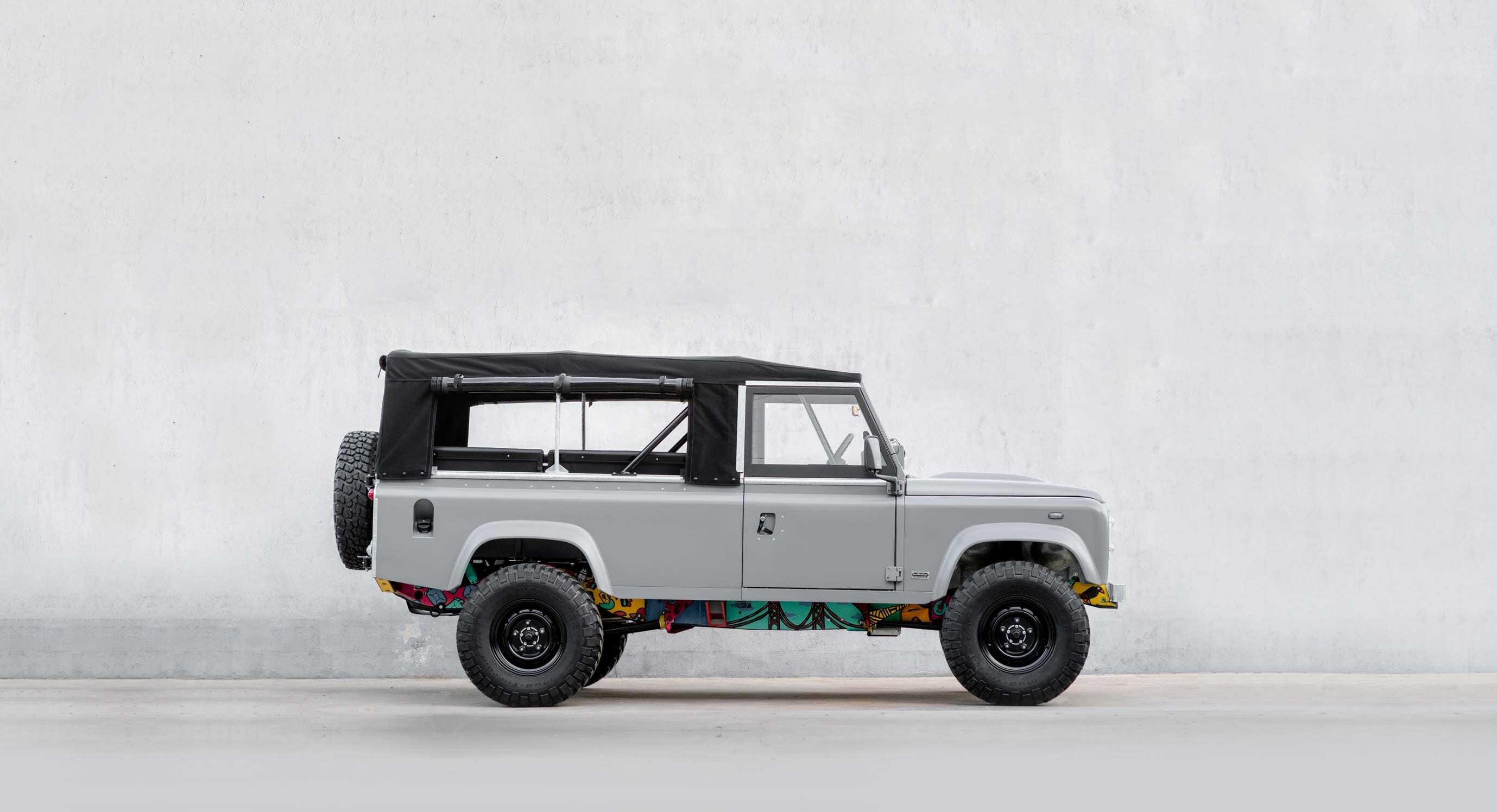 Drivable Art: CoolNVintage and Vasco Costa's Land Rover 110