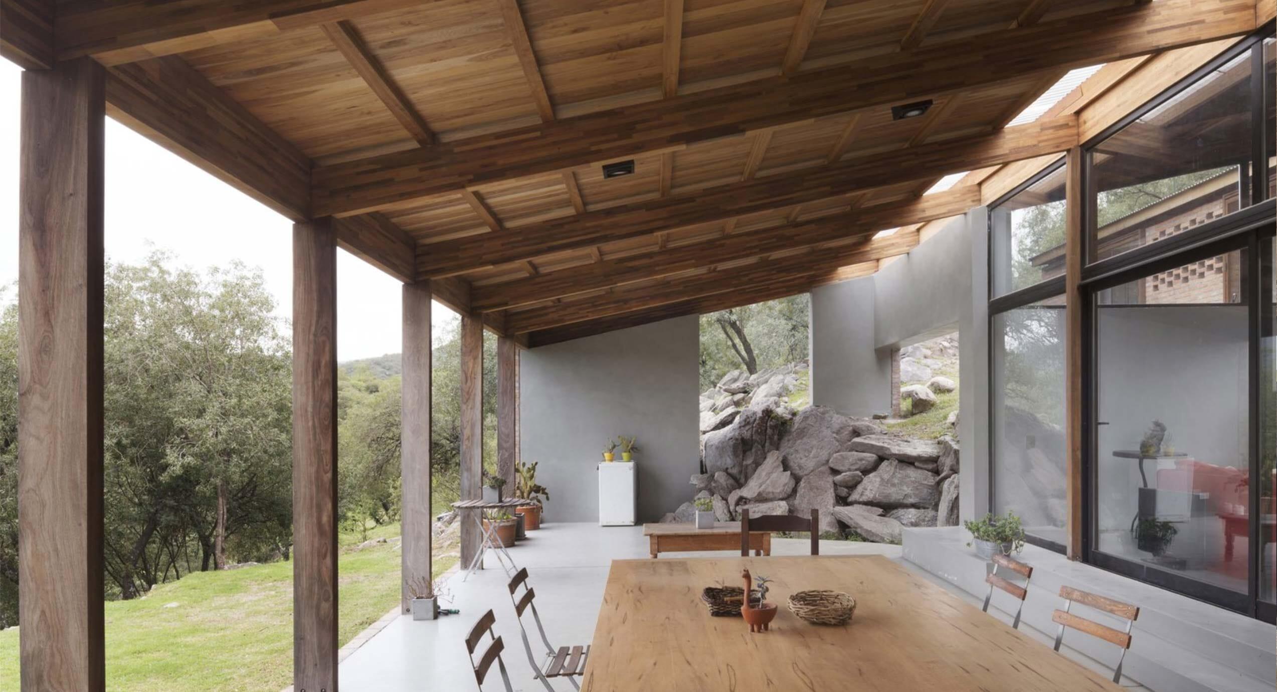 How Alarcia Ferrer Arquitectos Incorporate Rocks In Casa JB