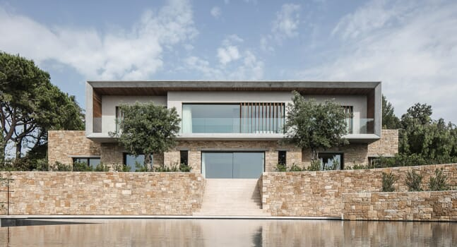Caprini & Pellerin's Villa Fidji is a patchwork of style and material