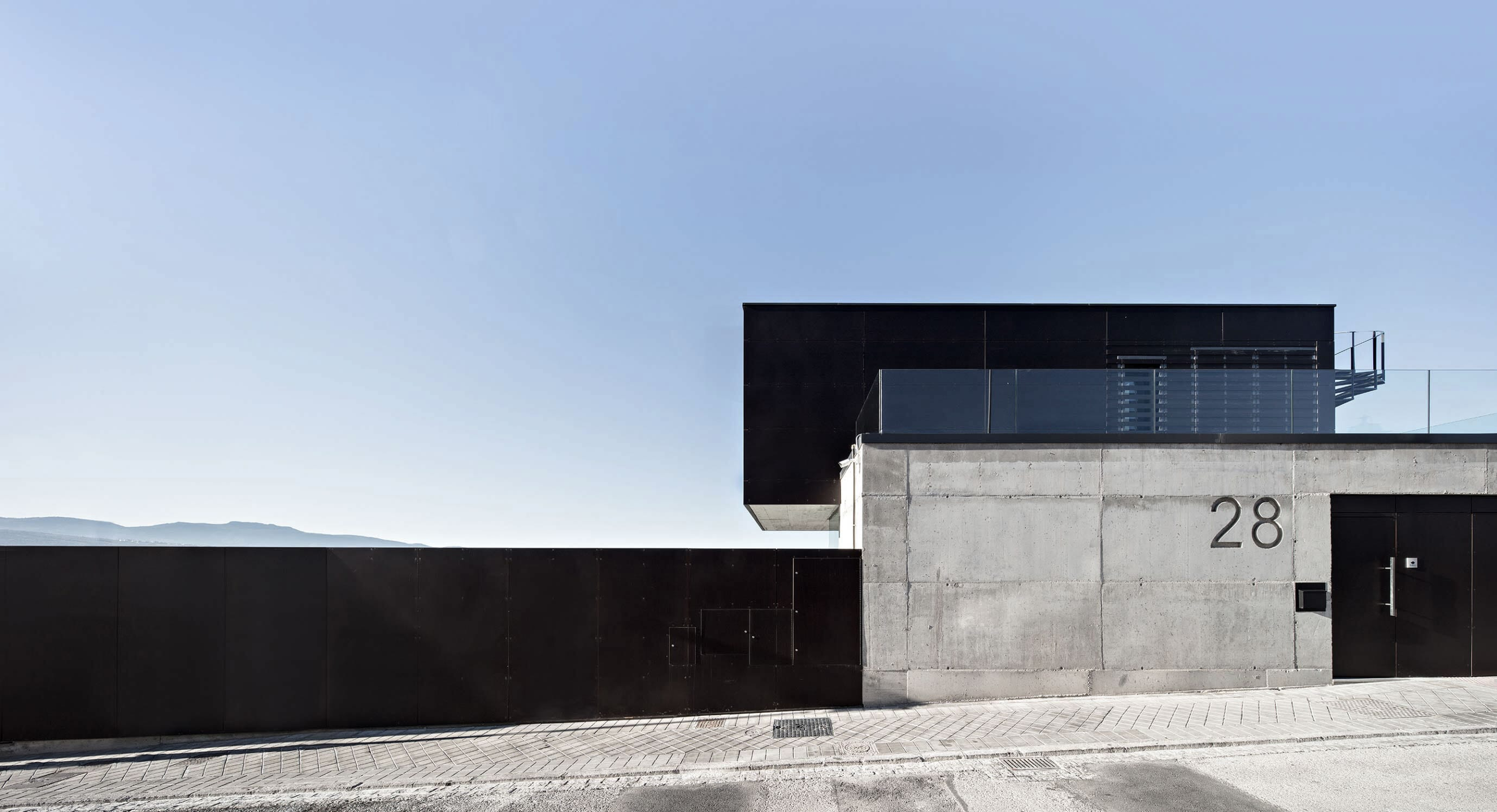 Overlook The City With The Air House In Granada, Spain