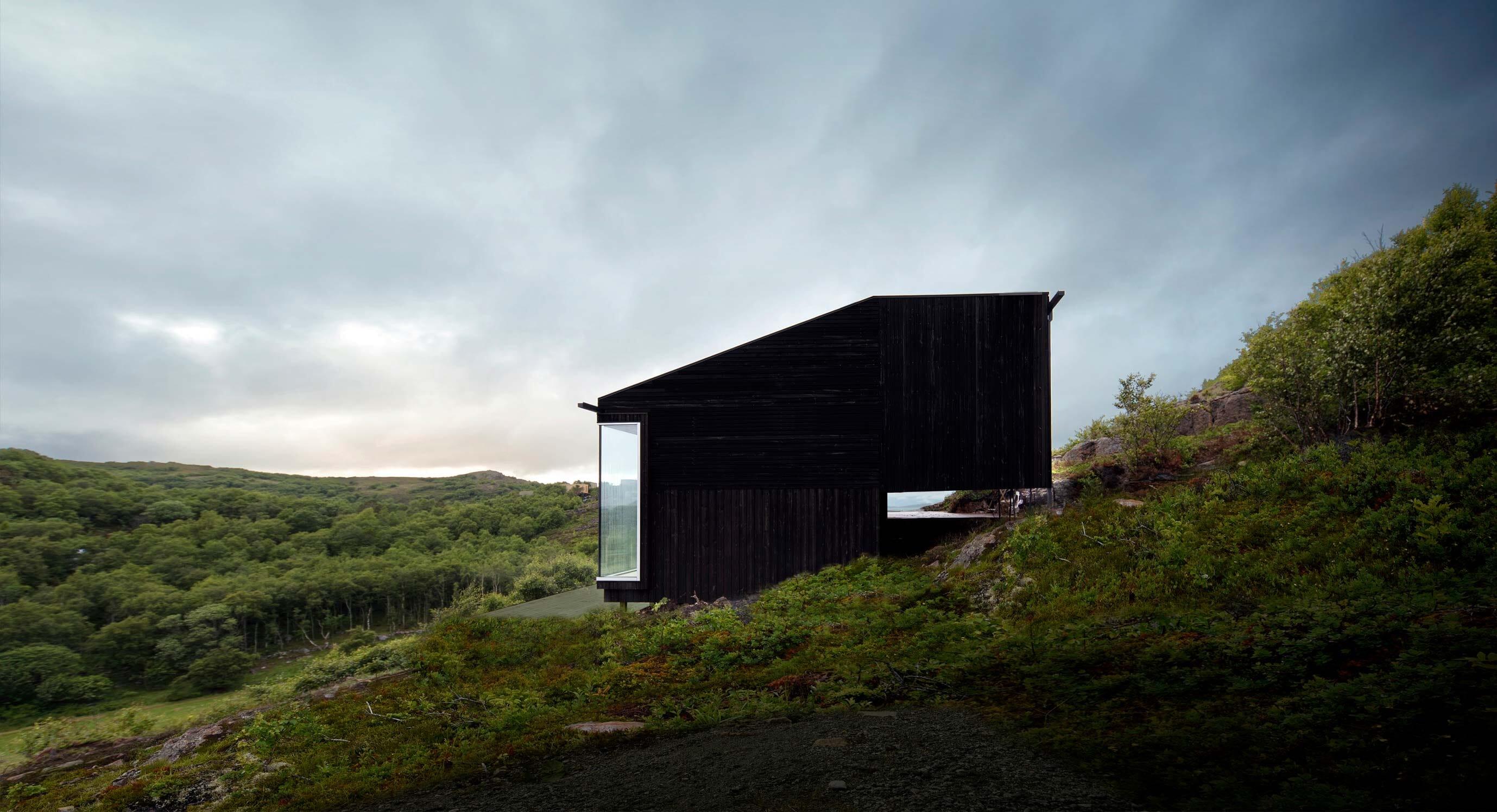 Cabin Stokkøya Floats On A Norwegian Hillside
