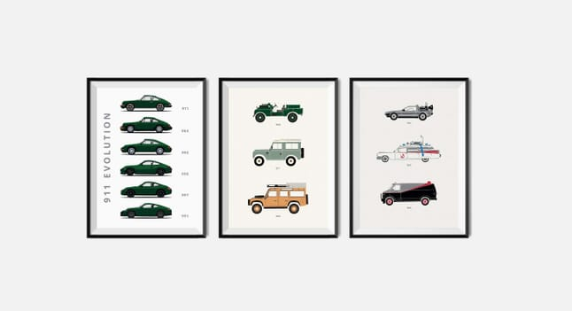 The best car art from Rear View Prints