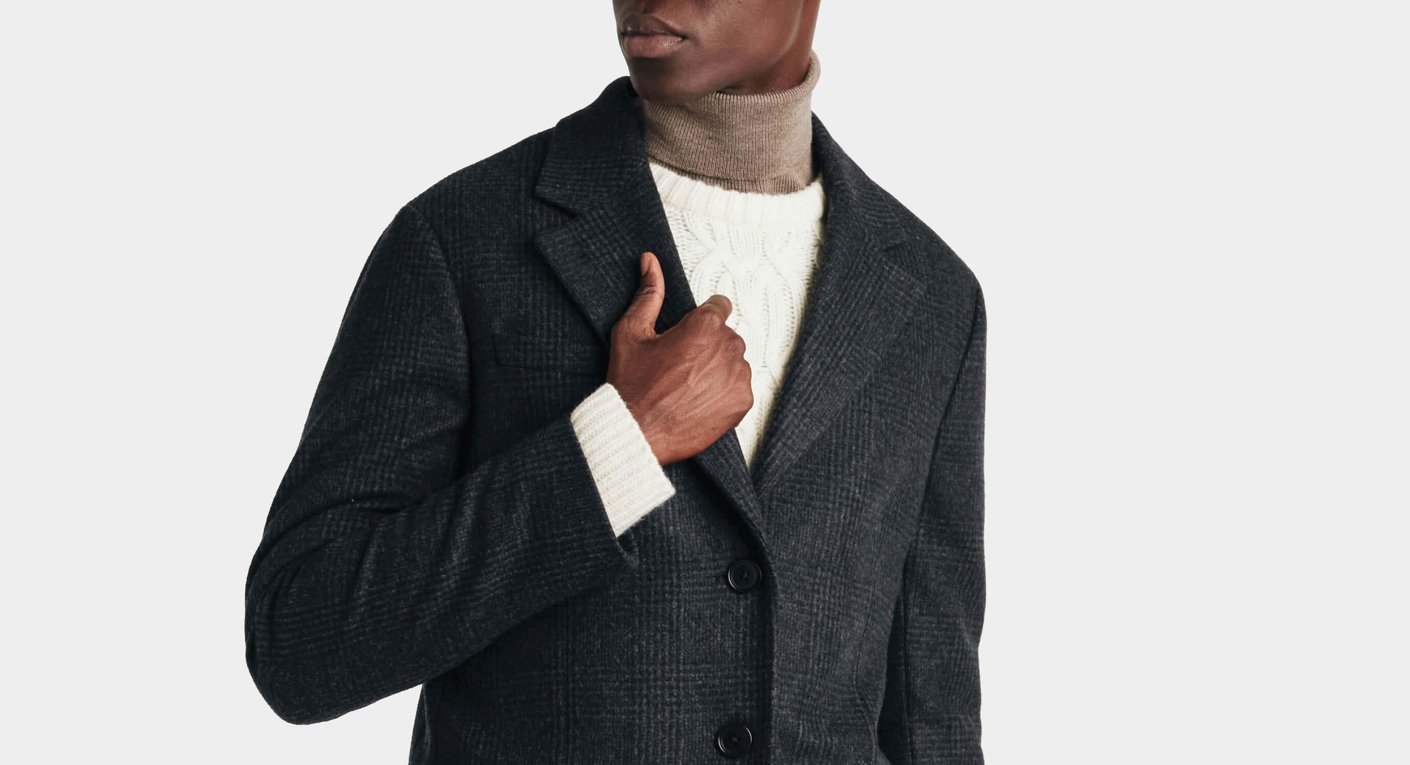 1963 men's smart winter coat