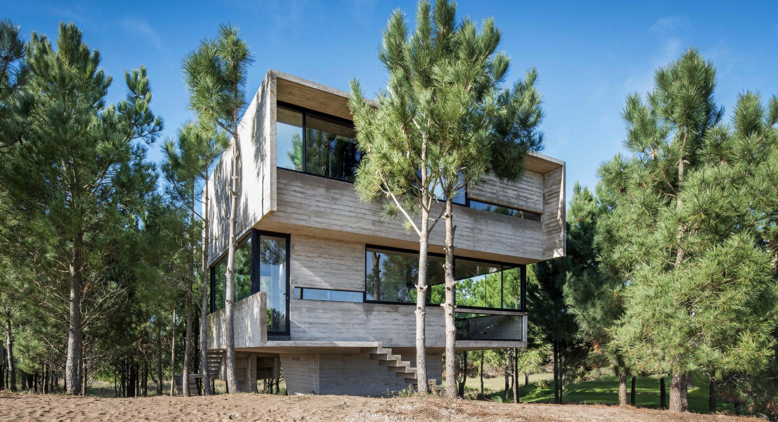 House in the Trees: Minimal footprint on surroundings