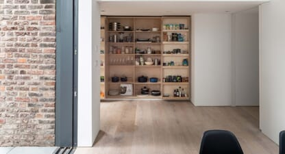 Lawford Road Townhouse: A layer of storage