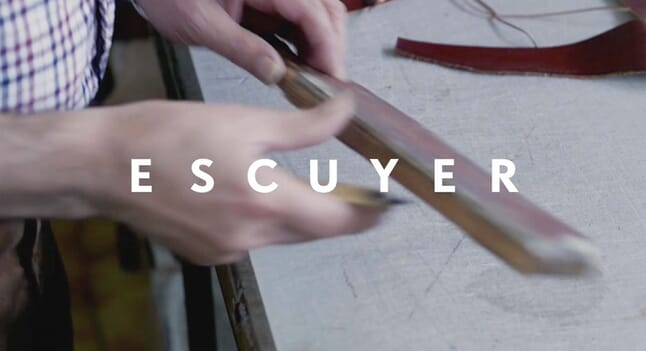 How an Escuyer leather billfold wallet is made