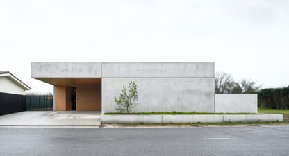 Unique concrete house doubles as a live-in work space