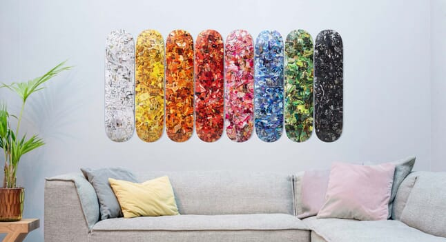 The Skateroom x Vik Muniz collaboration