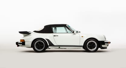 Porsche 911 Supersport cabriolet: Great white whale-tail