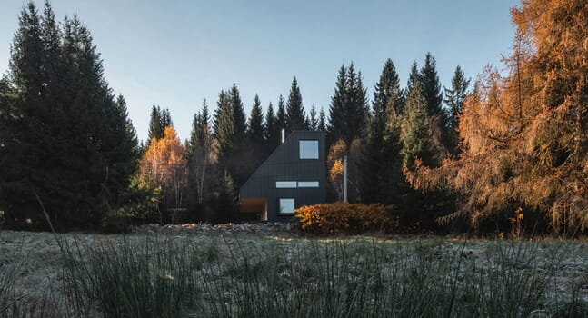 NEW HOW architects' Weekend House is a hidden haven in the mountains