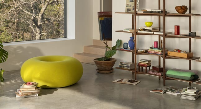 Soft geometry: Introducing the Boa Pouf by Sabine Marcelis for Hem