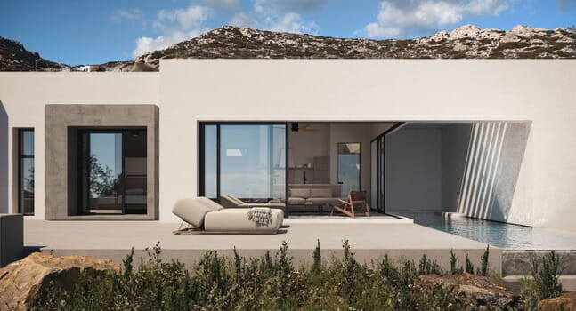 Sheltered Villas: A Greek island oasis that harnesses its surroundings