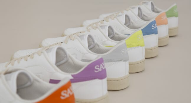 Introducing SAYE's eco-friendly Modelo '89 Vegan Colores sneakers