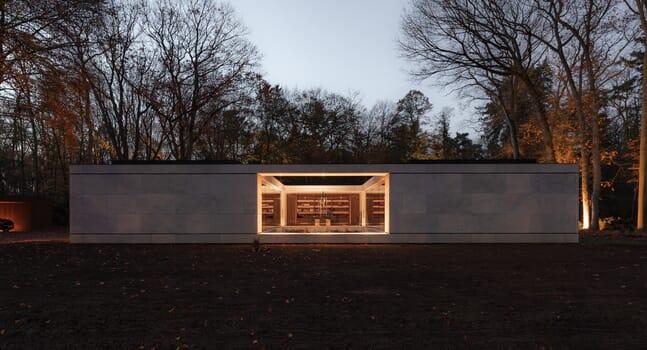 Villa JM: A minimalist Dutch woodland home