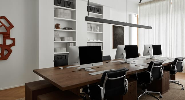 Inside Sjöman Frisk's new Stockholm office, designed by Frederik Karlsson